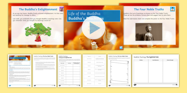 The Teachings Of Buddha 4 Noble Truths Worksheet And More