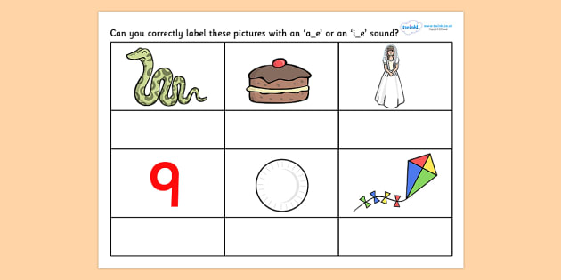 Long 'a' or 'i' With Final 'e' Worksheet - worksheets ...