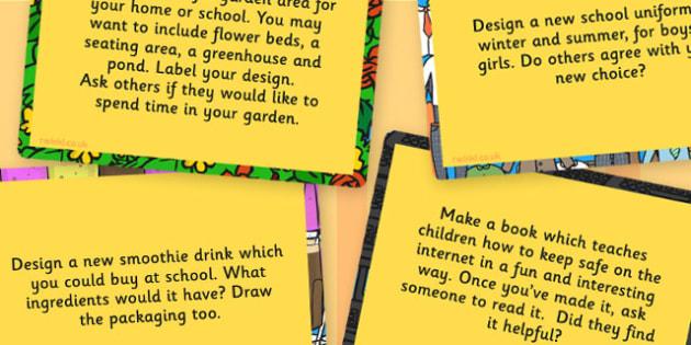 LKS2 Design Technology Challenge Cards - Design, Technology