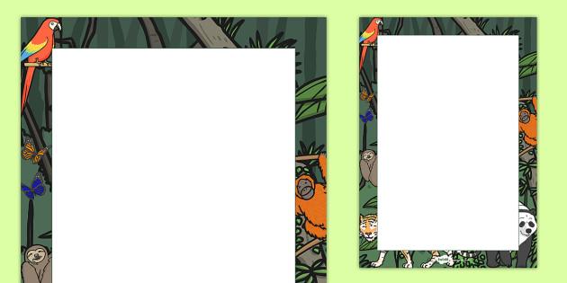 Jungle Decorative Page Border - jungle, page border, decorative