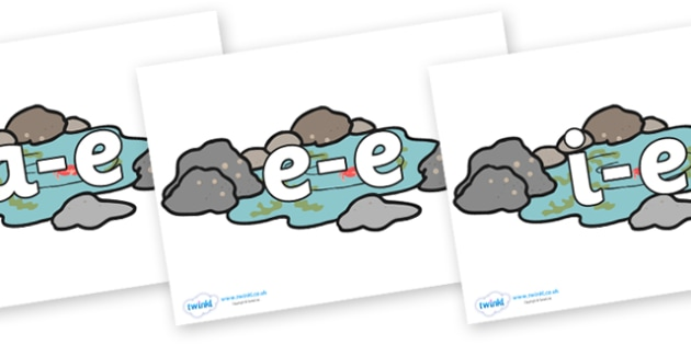 Modifying E Letters on Rockpools - Modifying E, letters, modify, Phase 5, Phase five, alternative spellings for phonemes, DfES letters and Sounds