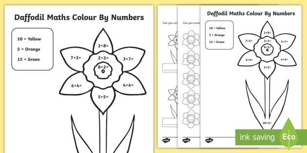 Daffodil-Themed Maths Activity Sheets (teacher Made)