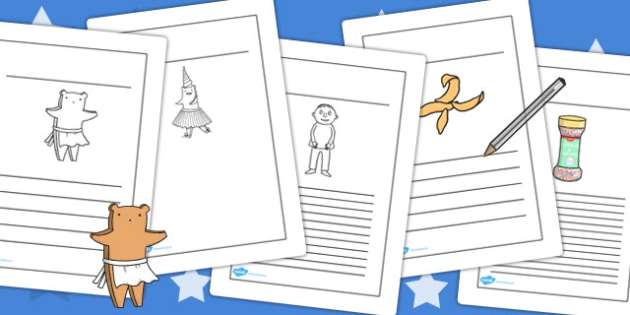 Writing Frames to Support Teaching on Biscuit Bear - Biscuit, Bear, Writing