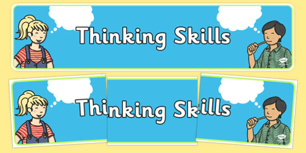 Thinking Skills Display Banner - thinking skills, display banner, banner, display, banner for display, display header, header for display, header