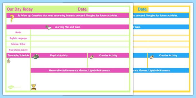 Daily 1 Child Planner - child, planner, daily, 1 child, plan