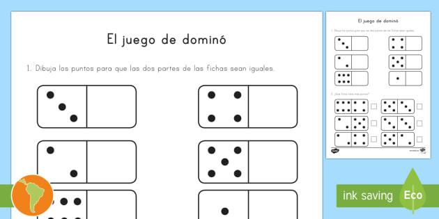 New ficha de actividad el juego de domin material de for Fichas de domino