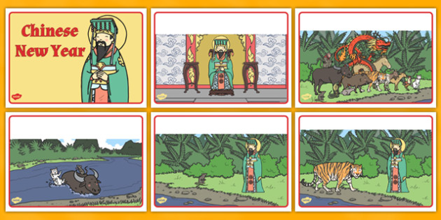 The Story of Chinese New Year Story Sequencing - story, chinese