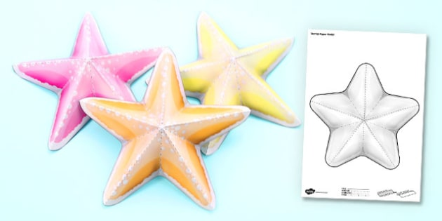 Under the Sea Simple 3D Starfish - 3d, starfish, under the sea