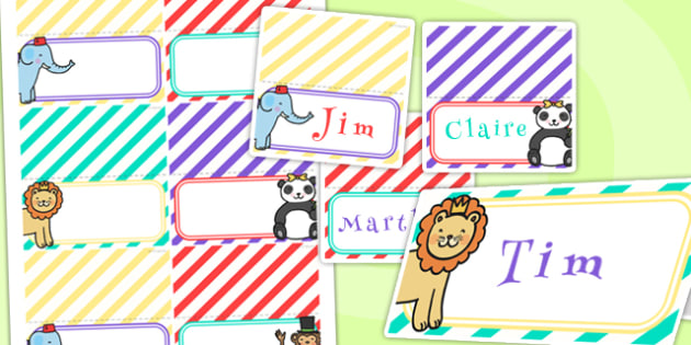 Animal Themed Birthday Party Place Names - birthdays, parties
