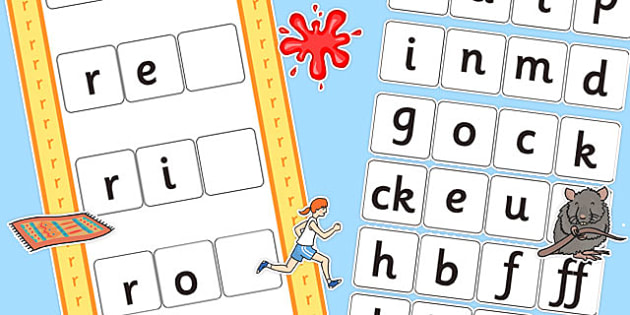 CVC r Word Activity Including Phase 2 Letters and Sounds - phases