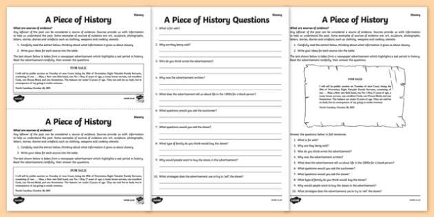 Slavery Evidence Task - slavery, evidence, task, slave, slavery evidence