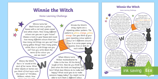 EYFS Home Learning Challenge Sheet Reception FS2