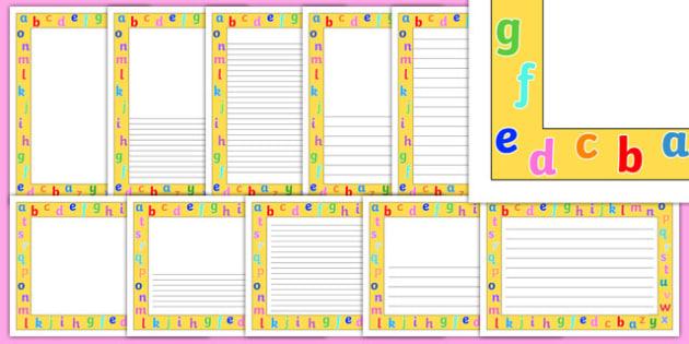 Alphabet Borders - alphabet, borders, page, border