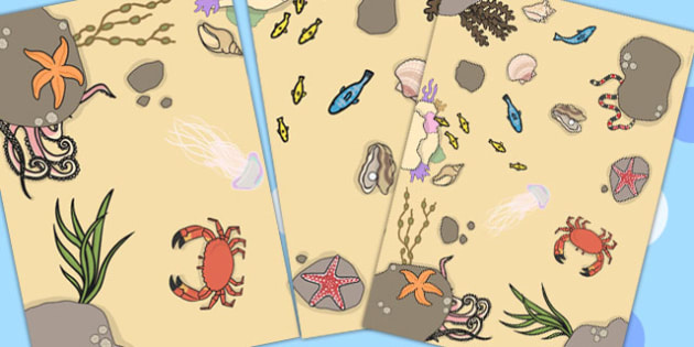 Sea Floor Mat - sea, seaside, under the sea, visual aid, roleplay