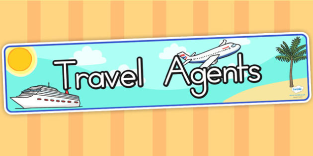 Travel Agents Role Play Display Banner - travel agents, banner