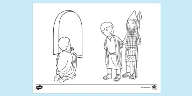 Daniel Bible Colouring Pages Free Colouring Sheets