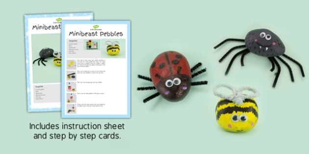 Minibeast Pebbles Craft Instructions - craft instructions, craft