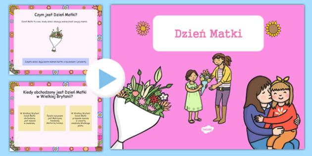 Prezentacja PowerPoint Dzień Matki