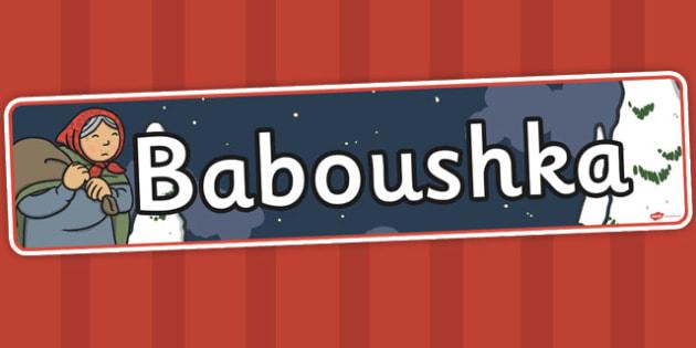Babushka Baboushka Display Banner - babushka, display banner