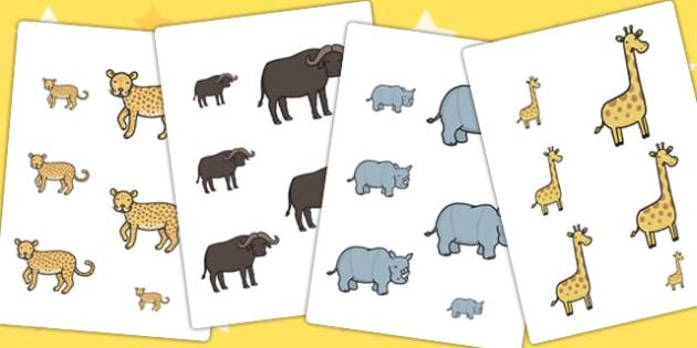 Safari Themed Size Ordering - order, size order, sorting, sort