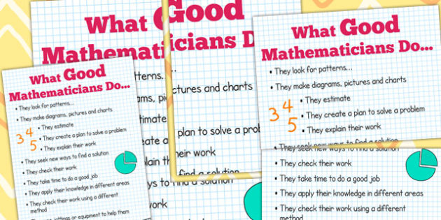 What Good Mathematicians Do Poster - maths, poster, display