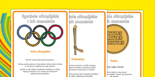 Plakaty na gazetkę Igrzyska Olimpijskie po polsku