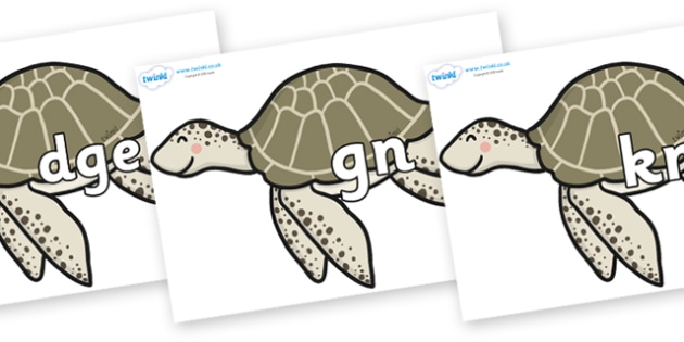 Silent Letters on Turtles - Silent Letters, silent letter, letter blend, consonant, consonants, digraph, trigraph, A-Z letters, literacy, alphabet, letters, alternative sounds