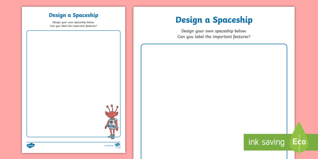 Design a space rocket activity sheet spaceship elon for Design your own space