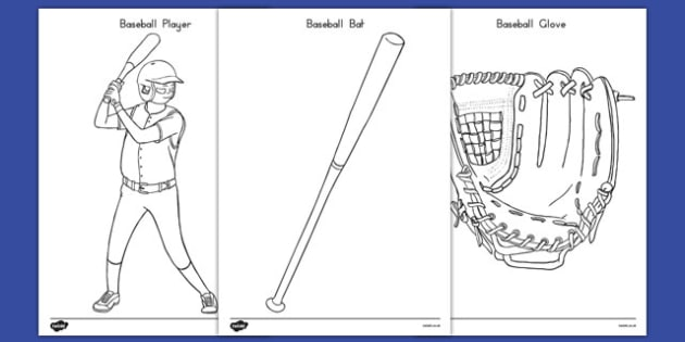 Baseball Coloring Pages - usa, baseball, mlb, major league baseball, coloring pages