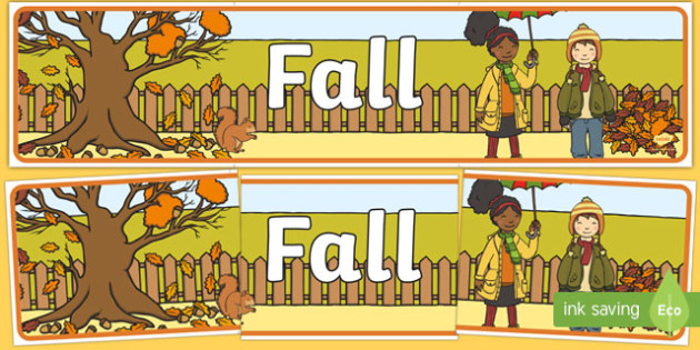 Fall Decorative Banner