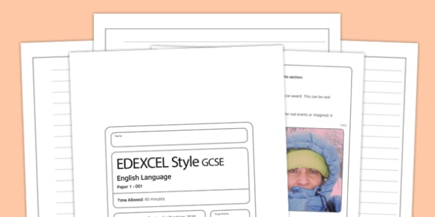 (I) Eng Lang EDEXCEL Style Writing Question - time, essence, edexcel, style, question
