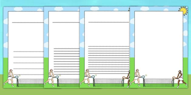 Wimbledon Themed Writing Frames - sports, sport, templates, pe