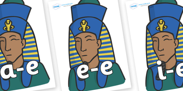Modifying E Letters on Pharaohs - Modifying E, letters, modify, Phase 5, Phase five, alternative spellings for phonemes, DfES letters and Sounds
