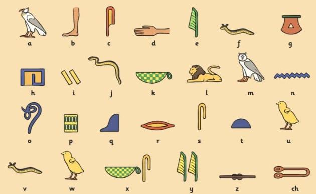 how to write egyptian writing