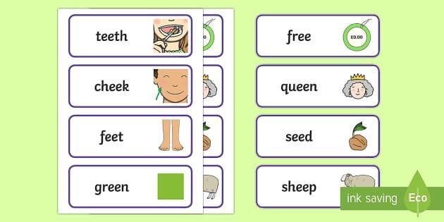 ee Words - Sound Word Cards