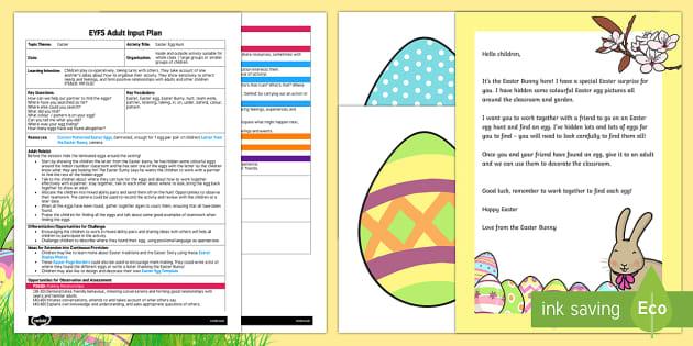Easter Egg Hunt Adult Input Plan Resource Pack