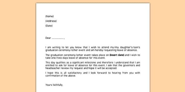 Education Leave Of Absence Letter Sample