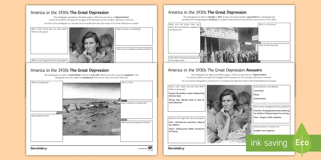 an analysis of the great depression in america