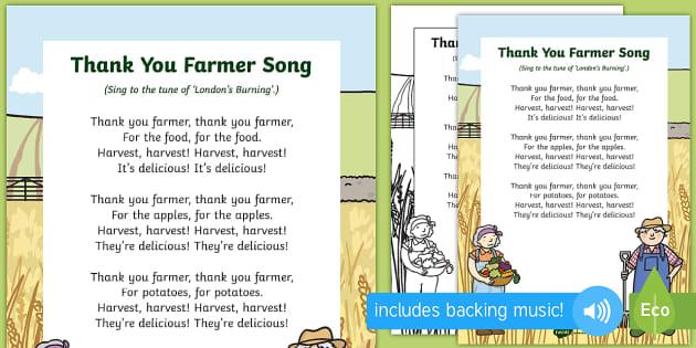 Thank You Farmer Song Teacher Made