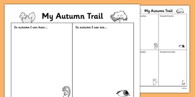 Autumn Observation Worksheet Roi Irish Republic Of