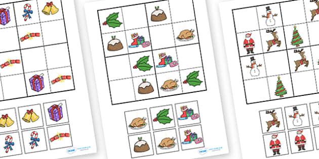 Christmas Sudoku.Christmas Themed Sudoku
