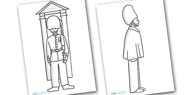 Guard Colouring Sheet Guard British Queen Palace