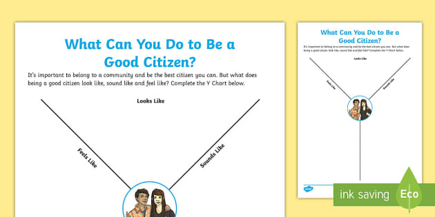 What Can You Do To Be A Good Citizen Y Chart Worksheet