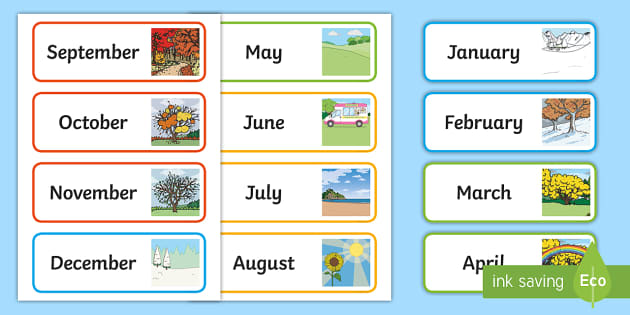 image relating to Months of the Year Printable identify Weeks of the Calendar year Show Poster - Clroom Device - Twinkl