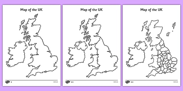 Blank UK Map Blank Uk Map Uk Map Britain Islands Blank - Unlabelled map