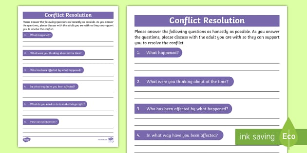You wish Adult conflict resolution