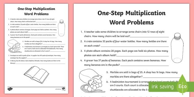 one step multiplication word problems worksheet worksheet ks2 maths. Black Bedroom Furniture Sets. Home Design Ideas