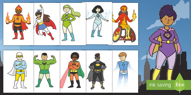 Superhero Cut Outs Primary Resources Teacher Made