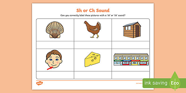 FREE! - Sh or Ch Sound Phonics Worksheet - FREE English Resource - Twinkl