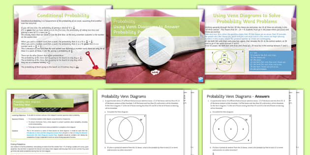 Mastery Venn Diagrams Probability Lesson Pack Ks3 Maths